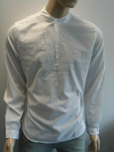 hommes kurta style t shirt mandarine col grand p re. Black Bedroom Furniture Sets. Home Design Ideas