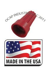 100 Red Electrical Wire Connector Twist Nut 16 10 Ga Auto Home Made In Usa