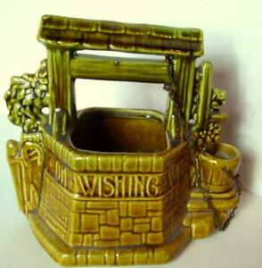McCoy Ceramic Wishing Well Planter Oh Wishing Well Grant A Wish to Me