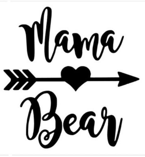 Sticker for Car Truck Bumper Window Wall Home phone MAMA BEAR arrow Vinyl Decal