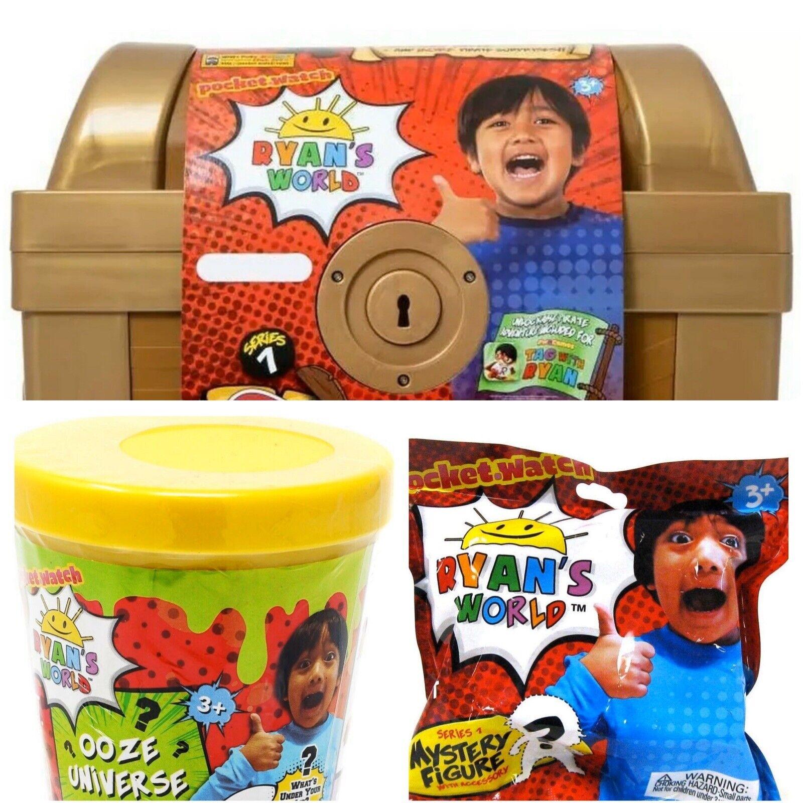 Ryan's Welt Pirate Mystery Treasure Chest Box Kinder  Set BONUS Small Egg & Plush