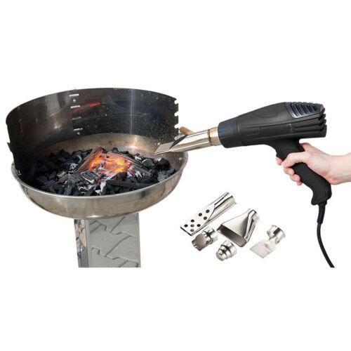 bis 1.800 Watt Grillanzünder-Heißluftpistole mit 2 Gebläsestufen Grillfön
