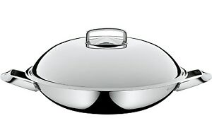 wmf stir fry wok with lid cromargan 18 10 stainless steel 14 ebay. Black Bedroom Furniture Sets. Home Design Ideas