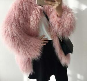 Coat Jacket Wedding Muffe Feather Xl Bridal Ostrich Blush Pink Fur S qwxTZT1U