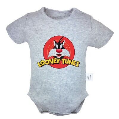 Hungry Taz Mania Looney Tunes Newborn Baby Dress Toddler 100/% Cotton Clothes