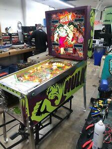 Gottlieb Incredible Hulk pinball machine, full restoration