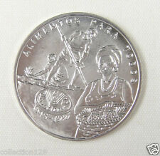 UNC URUGUAY 1995 SILVER COIN 100 Pesos 1995 FAO 50th Anniversary
