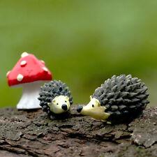 Hedgehog three-piece Micro Landscape Bonsai Plant Garden Decor Stakes DIY Craft