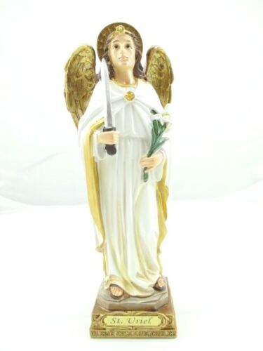Arcángel Uriel 23 Cm Poli Figura Religión,Figura Decorativa,Articoli Religiosi,