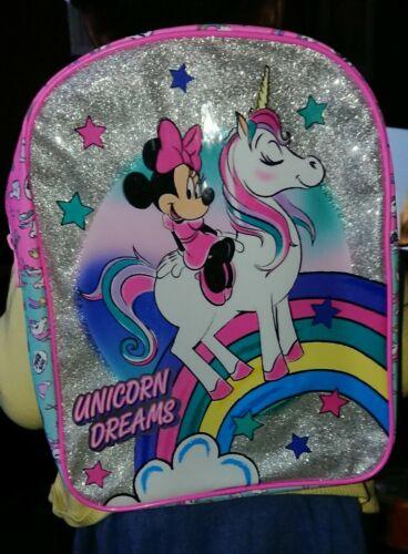 Disney Minnie Mouse Unicorn Girls Kids  Backpack School Bag Rucksack