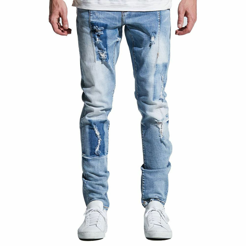 Embellish NYC Paul Denim Jeans Light bluee Patch