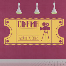 Vintage Cinema Wall Sticker Film Movie Wall Decal Bedroom Living Room Home Decor
