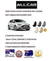 Sheepskin Car Seatcovers For Ford Focus, Seat Airbag Safe, 5 Colours.30mm Tc