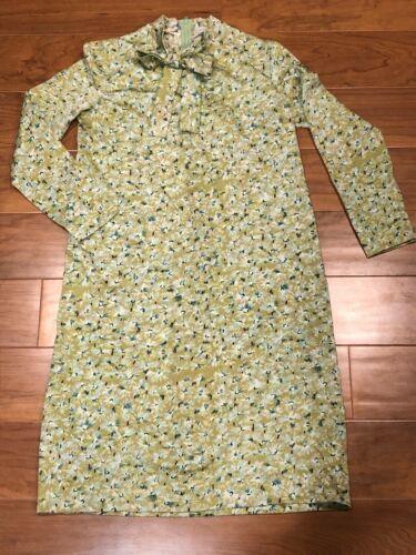 VTG 1960's GOLDWORM Floral Small Print Dress Polye