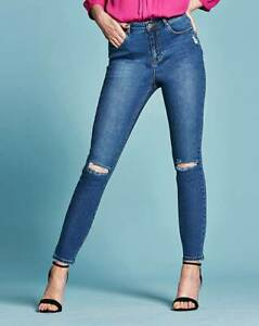 1a6073aea1c00 Image is loading Chloe-Ripped-Knee-Skinny-Jeans-Regular-Length-Size-