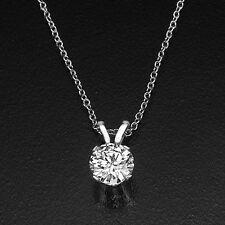 2 Carat Solitaire Round Black Friday Diamond Pendant Necklace D/SI1 950 Platinum