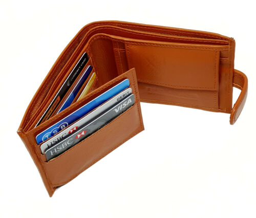 Man Wallet 100/% Leather RFID SAFE Contactless Card Blocking ID Protection 895