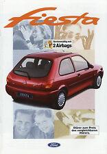 Prospetto FORD FIESTA 1/97 auto PROSPEKT 1997 opuscolo FOCUS Flair Fun Ghia auto