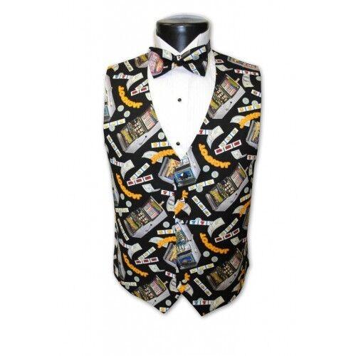 Las Vegas Slots Tuxedo Vest and Bowtie