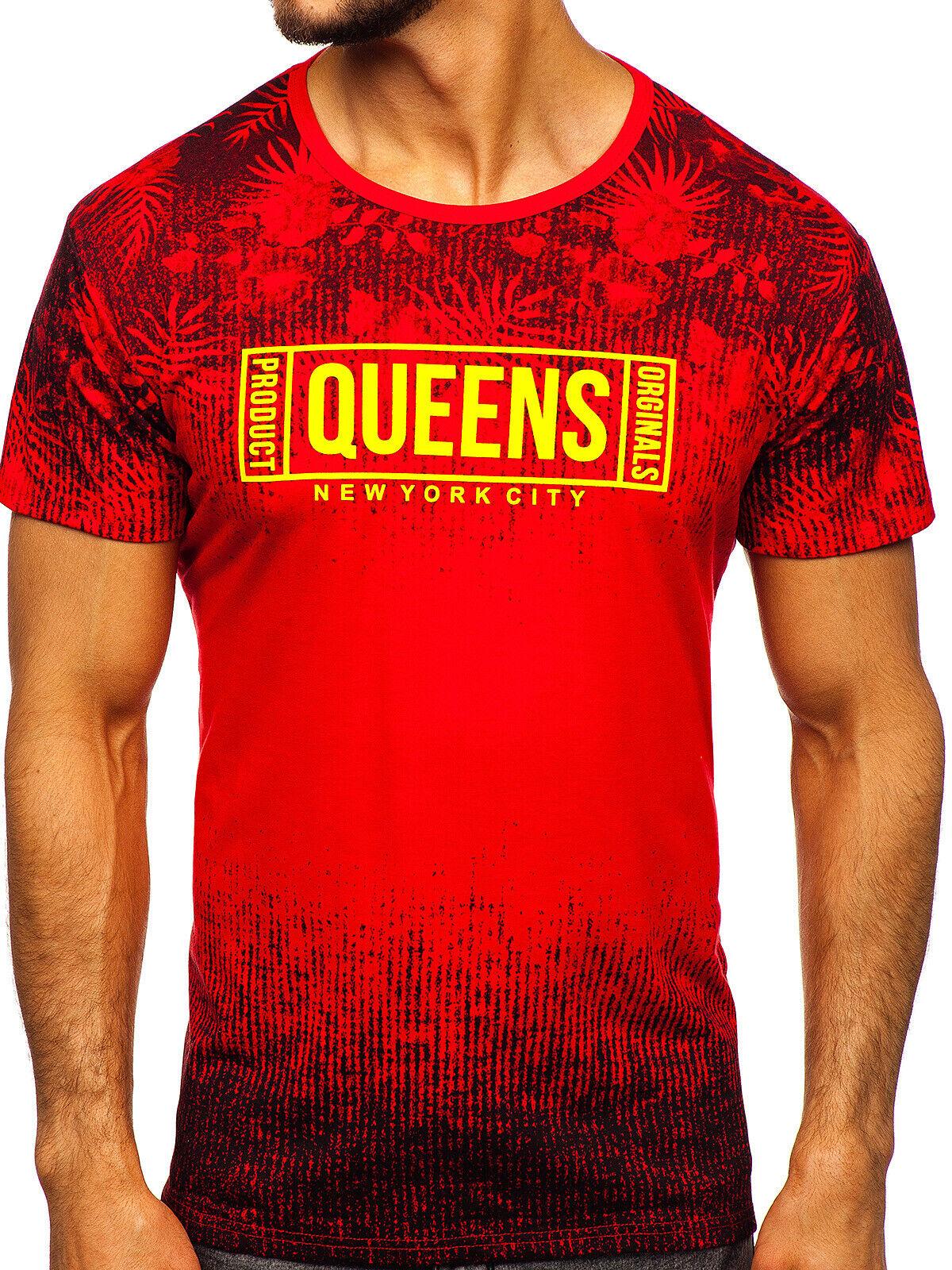 T-Shirt Tee Kurzarm Classic Casual Print Rundhals Aufdruck Herren BOLF 3C3 Motiv