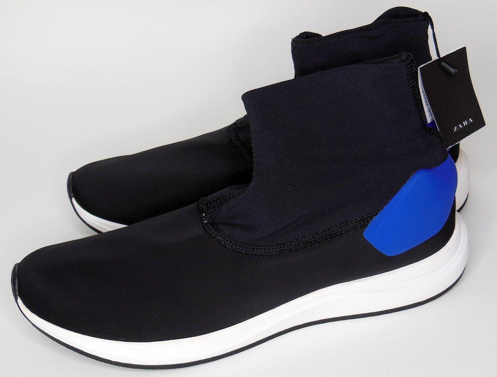 Nuevos calcetines Zara para hombre Negro Estilo Alta Top zapatillas Talla 10 US
