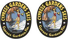 2 VINTAGE CYPRESS GARDEN Decals  Asst. Sizes  FREE SHIPPING