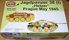 Panzer 38(t) Hetzer (2Modelle im Set) Prag 1945 in 1/35 von MPM