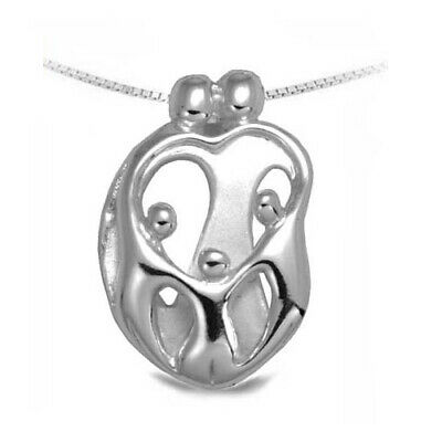 Parents /& Children Family Pendant in Sterling Silver