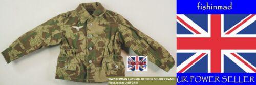 Miniature WW2 officier allemand soldat Luftwaffe camouflage Champ Veste Uniforme Blouse