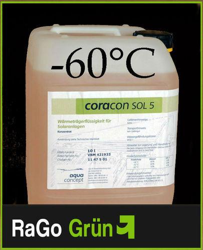CORACON SOL 5 Solarflüssigkeit  Konzentrat 10 L f. Kollektoren - das Original