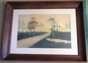 El Edwards Watercolor Landscape 20 X 13 12 Original Painting