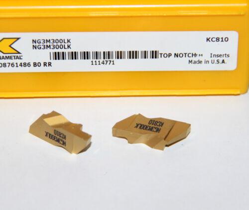 NG3M300LK KC810  KENNAMETAL *** 10 INSERTS *** FACTORY PACK ***
