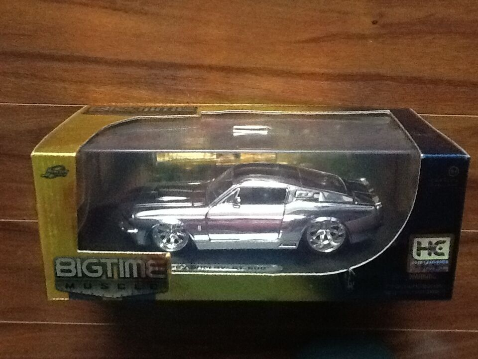 JADA 1 24 LTD EDIT CHROME 1967 SHELBY GT 500 ITEM   91198  FACTORY SEALED RARE