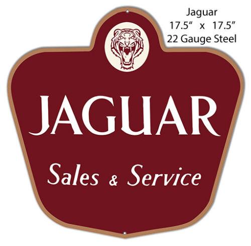 Jaguar Reproduction Laser Cut Out Of Metal 17.5x17.5