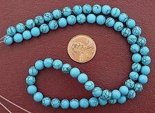 6mm Round Gems Synthetic Turquoise Gem Stone Gemstone Bead 15 Inch Strand