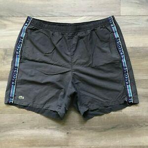 LACOSTE-Men-s-Swim-Trunks-Shorts-Size-6-XL-Mesh-Lined-Gray
