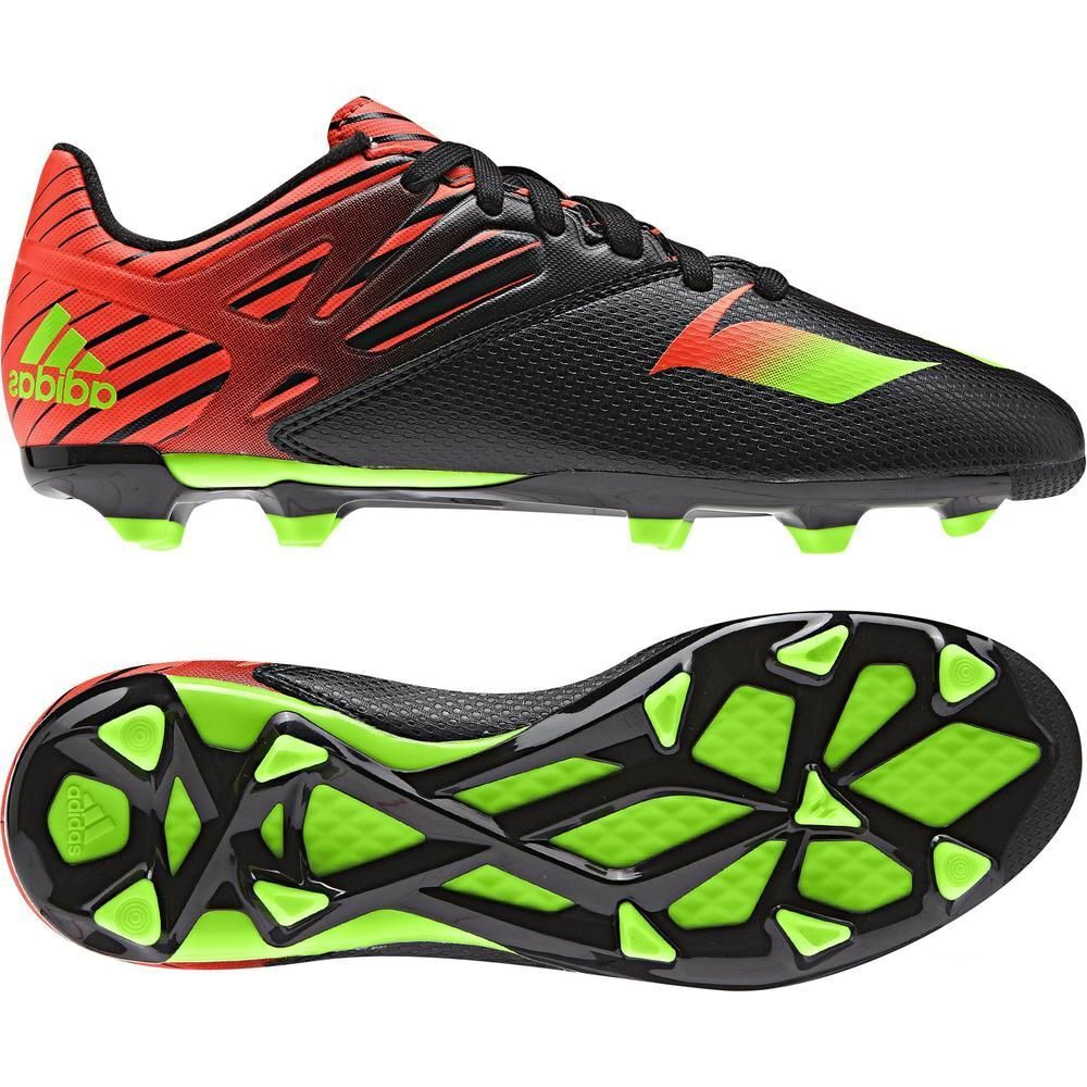 Adidas F 15.3 TRX FG / AG Messi 2015 Soccer Shoes Nero -Red - Green KIDS- YOUTH