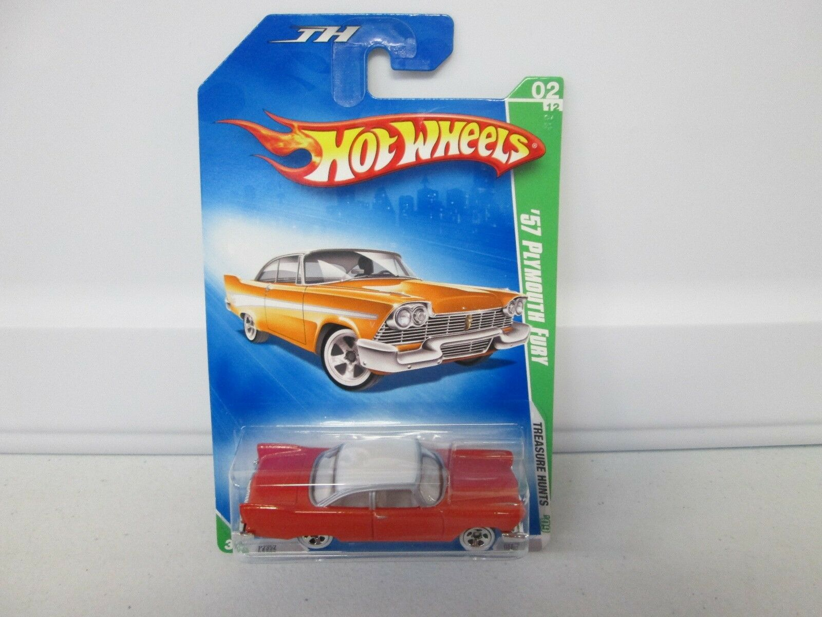 heta hjul 2009 Treasure Hunt'57 Plymouth Fury 2  12 No Stripe Variation - RARE