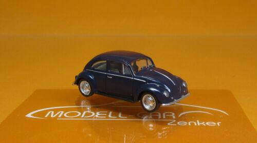 Herpa 022361-006 vw escarabajo azul acero scale 1 87