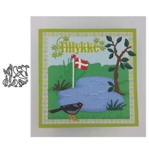 Stanzschablone-Vogel-Tier-Hochzeit-Weihnachts-Oster-Geburtstag-Karte-Album-DIY
