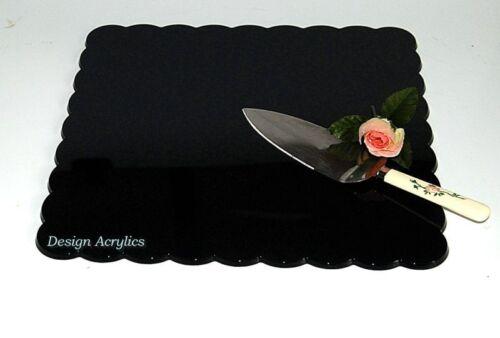 """14/"""" square pétale acrylique gâteau de mariage board-noir"""