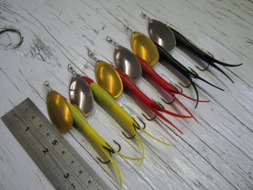 6 Flying C Spinners 15g #4 Lure Bait For Bass Salmon Pike Sea Trout Fishing A7