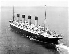 Photo: Grand Aerial Of The RMS Olympic, 1933