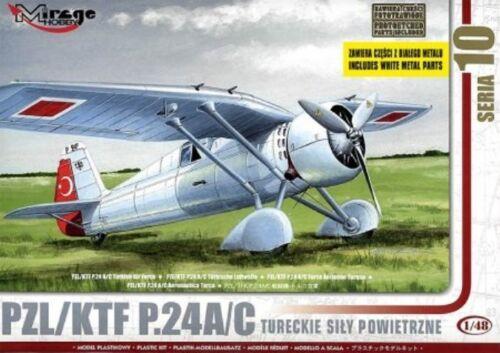 PZL P 24 A 1//48 MIRAGE RARE KTF turc af marquages C