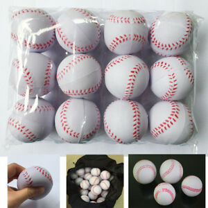New 12PCS Sport Training Baseball Elastic PU Foam Base Balls Softball White Ball