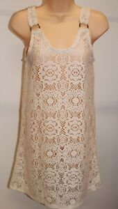 a77039ef1ad58 New J. Valdi Swimsuit Bikini Cover Up Tunic Sz M Natural Crochet