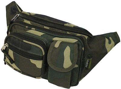 Camo Hip Waist Case Fanny Pack Green Camouflage Belt Travel Pouch Bum Tackle
