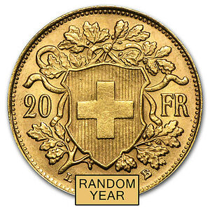Swiss-Gold-20-Francs-Helvetia-Almost-Uncirculated-AU-Random-Year-SKU-19