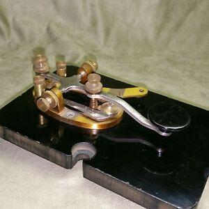 Vintage-EF-Johnson-114-100-4-Telegraph-Morse-Code-Key