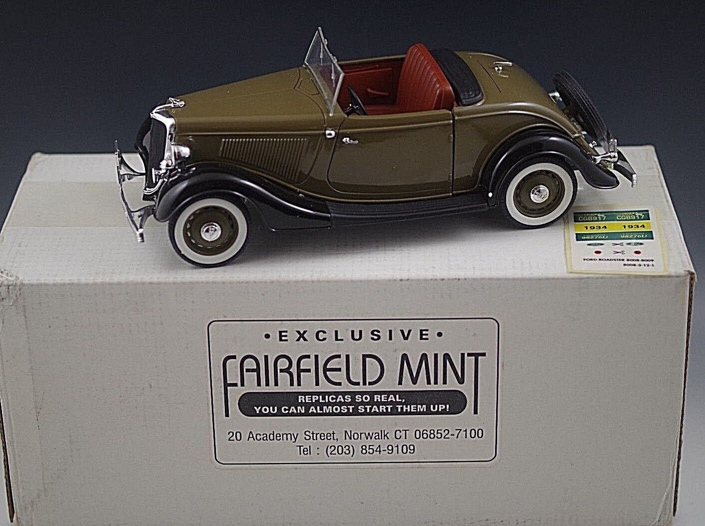 SOLIDO 1934 FORD ROADSTER FOR FAIRFIELD MINT 1 19 SCALE MIB